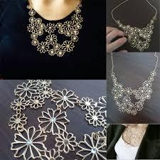 metal flower necklace images Brand design western style multilayer pendants rhinestone gold jpg