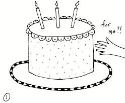 birthday cake coloring page u2014 fitfru style cake coloring pages