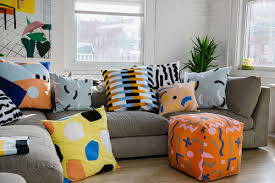 dusen dusen u0027s latest home goods include fun graphic pillows and