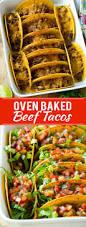 recette saine et facile oven baked beef tacos recette boeuf entrée et viande