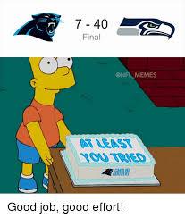 Carolina Panthers Memes - 7 40 final memes carolina panthers good job good effort