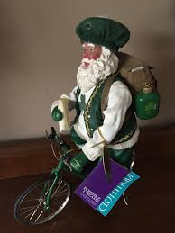 clothtique santa clothtique santa on a bicycle s gifts