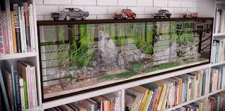 rip3d industrial loft quirky fish tank styled with vintage cars