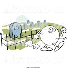 graveyard clipart clip art vector cartoon of a moodie emoticon whistling past a