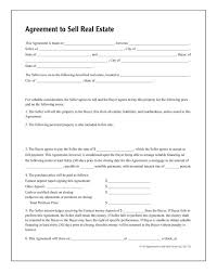 Purchase Agreement Template Real Estate by Agreement To Sell Real Estate Forms And Instructions