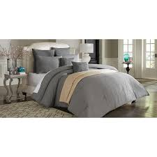 Linen Colored Bedding - cannon vintage wash linen look comforter set u2013 grey stone home