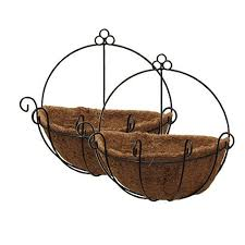tosnail pvc coated metal wall hanging planter basket with coco
