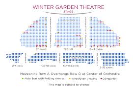Winter Garden Theater Broadway - seating chart for winter garden theater best interior design ideas
