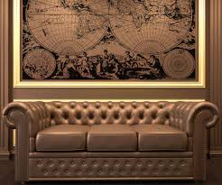 World Map Wall Decal by Vinyl Wall Decal Sticker Ancient Nautical World Map Os Aa322