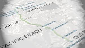 Trolley San Diego Map by Mid Coast Trolley Map Youtube
