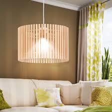 rgb led pendelleuchte mit holz lampenschirm lampen u0026 möbel