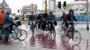 cycling raincoat cycling in the rain of the netherlands youtube