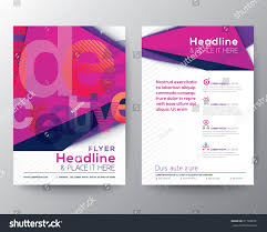 flyer graphic design layout abstract triangle brochure flyer design layout stock vector