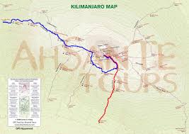 Mt Kilimanjaro Map 8 Day Lemosho Route