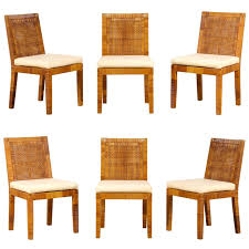 set of six dining chairs by billy baldwin for bielecky brothers at