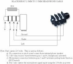 blackberry headset pinout cable and connector diagrams usb