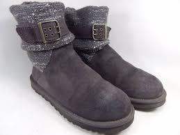 ugg cambridge s boot sale ugg cambridge buckle ankle boots size 8 m b eu 39 gray model