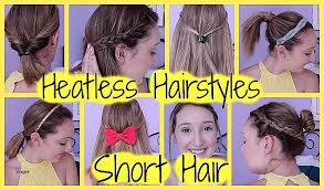 heatless hair styles short hairstyles how to make a hairstyle for short hair new 8