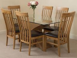 light oak dining room sets valencia oak 160cm wood and glass dining table with 6 harvard