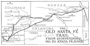 Las Vegas New Mexico Map by The Old Santa Fe Trail Map Santa Fe New Mexico U2022 Mappery
