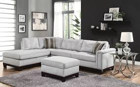 Upholstery Sectional Sofa 1051 92 Sectional Sofa With Nailhead Trim And Accent