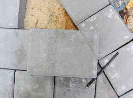 Cutting Patio Pavers How To Build A Paver Patio It S Done House