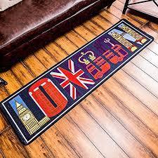 Kitchen Rug Mat Tidetex European Style Fashion London Pattern Bedroom Rug Bedside