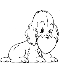 valentine u0027s kids coloring pages puppy dog valentine coloring