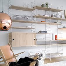 Wohnzimmer Regal Weis String Regalsystem Eichenholz Im Design Shop
