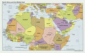 Middle East On Map by