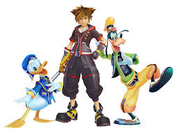 kingdom hearts 3 the characters are set on stage