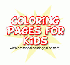 printable coloring pages preschool learning online