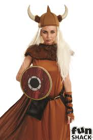 Halloween Costume Viking by Ladies Viking Lady Costume For Nordic Invader Medieval Fancy Dress