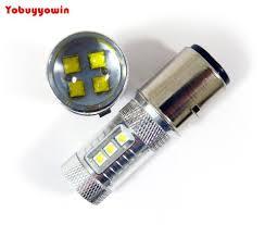 Led H6 2pieces Lot 6v 24v Motorcycle Led Bulbs Ba20d H6 80w Cree Chip Led
