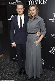film online wind river elizabeth olsen attends screening with jeremy renner in ny daily