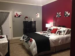 Black And Grey Bedrooms Brilliant Red Black And Grey Bedroom 72 In Home Remodel Ideas With