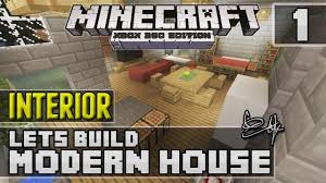 minecraft xbox 360 modern house interior design tutorial