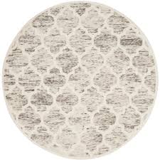 safavieh cambridge gray ivory 6 ft x 6 ft round area rug cam729g