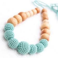 wood beads necklace designs images Many choose teething necklace nursing necklace breastfeeding jpg