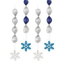 8ft silver u0026 white foil snowflake garland christmas decoration