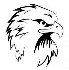 black and white eagle head clipart eagle coloring pages