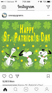 peanuts s day 396 best st patty s snoopy day images on o