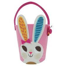 bunny easter basket felt bunny easter basket pink spritz target