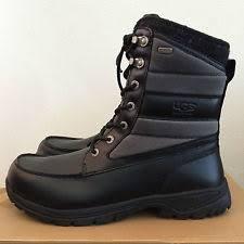 s waterproof winter boots australia ugg australia black leather canvas wynton winter boots