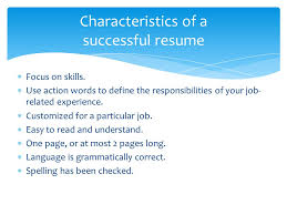 successful resume writing an effective resume what information should be in a