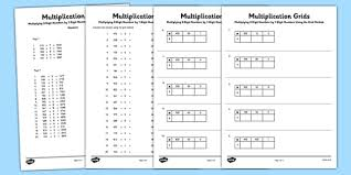 multiplying 3 digit numbers by 1 digit numbers using grid method
