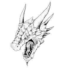 draw realistic dragon head 3d space