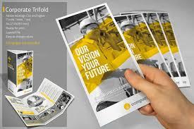 adobe indesign tri fold brochure template 70 modern corporate brochure templates design shack