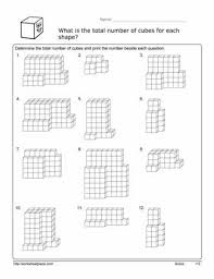 volume cube worksheetworksheets