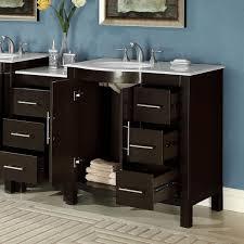 54 inch single sink vanity silkroad exclusive 54 inch single sink carrara white marble stone